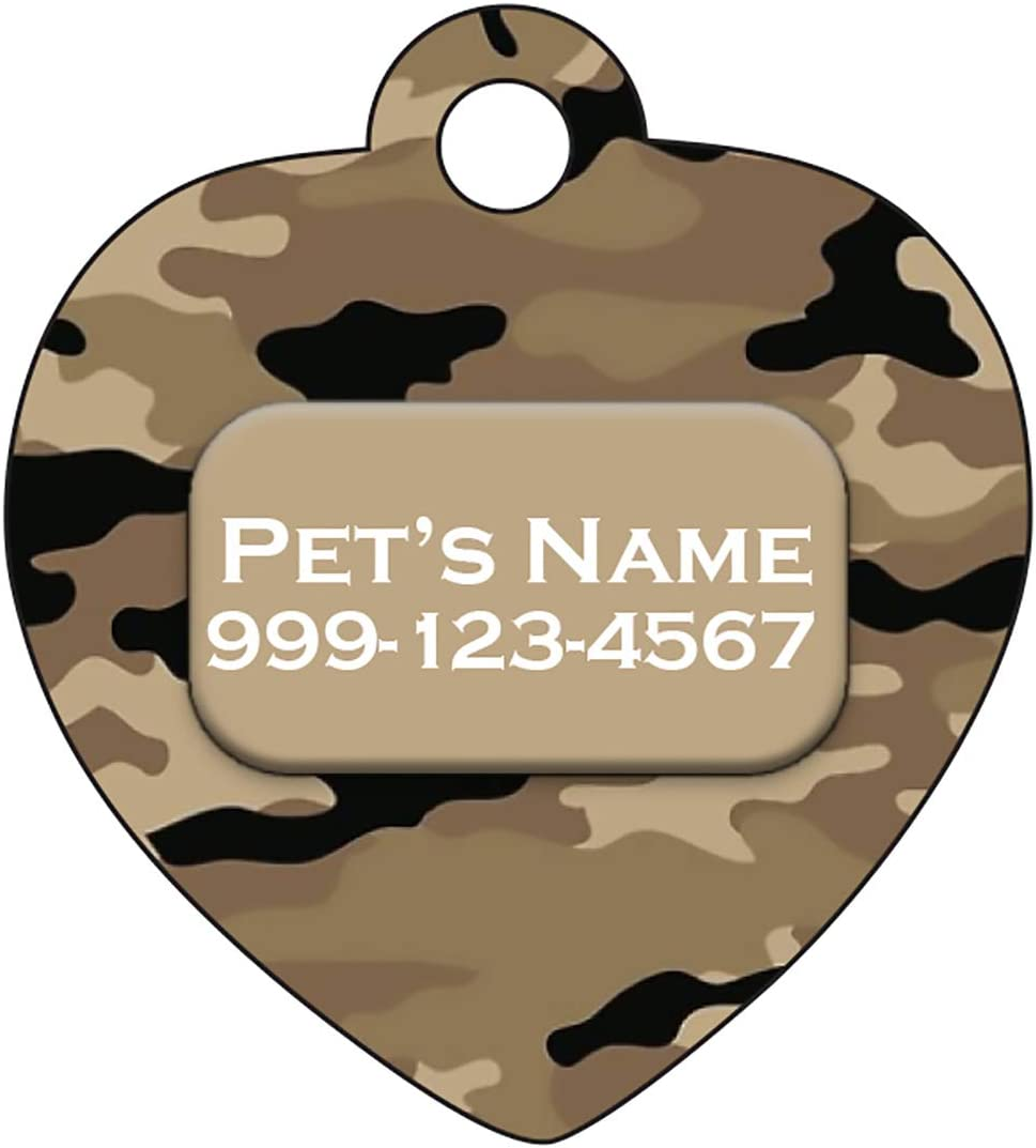 uDesignUSA Camo Pet Id Max 44% OFF Tag for Personalized w Cats Austin Mall Name Dogs
