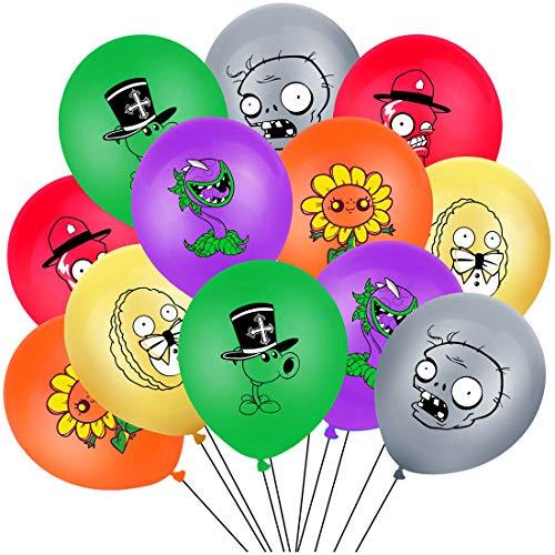 Plants vs. Zombies Kit de suministros para fiestas - YUESEN Juego de fiestas incluido Globo Kit de suministros para fiesta de cumpleaños para niños