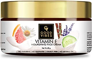 Good Vibes Vitamin E Nourishing Face Cream, 50 g Deep Moisturization Hydration For All Skin Types, Skin Soothing & Protect...
