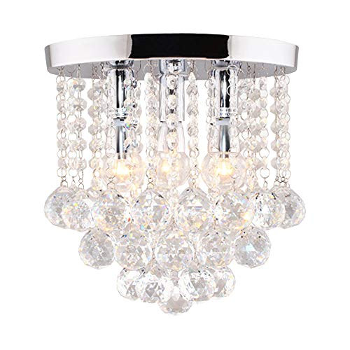 Surpars House Crystal Chandelier,3 Lights,11' W, 10' H,Silver