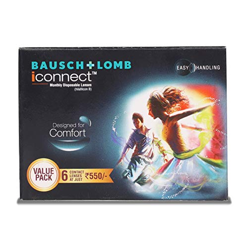 Bausch & Lomb Iconnect Value Pack Monthly Disposable Contact Lens (-5.50 , Clear, 6 Lenses)