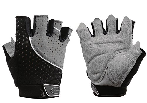 Tourdarson Weight Lifting Gym Gloves Microfiber & Anti-Slip Silica Gel Grip Padded Workout Gloves for Weightlifting, Cross Training, Gym, Fitness, Bodybuilding Men & Women (Gray, X-Large)