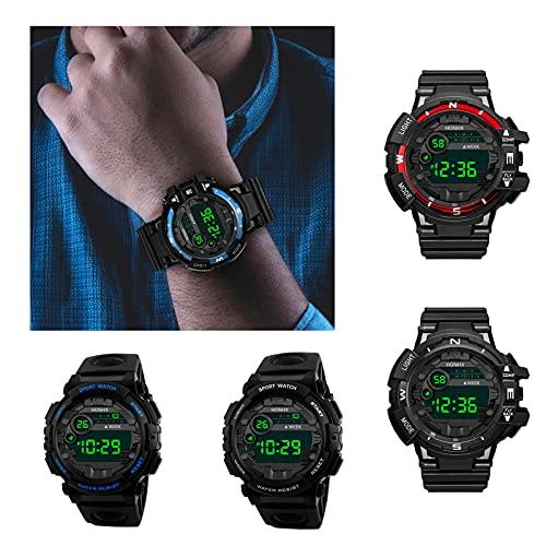 Mode Männer wasserdichte LED Uhr Digital Datum Militär Sportuhr Gummi Quarz Alarm Armbanduhr (a-2)