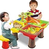 Foochow Kids Sand Pit Set, Tavolo da Gioco con Acqua E Sabbia attività per Bambini, Sabbia Giocando Giocattoli Attrezzi da Spiaggia, Giocattoli da Spiaggia Set Regali per Ragazzi E Ragazze