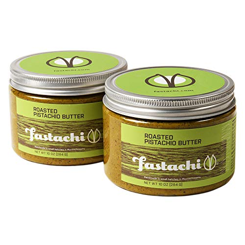 Fastachi Roasted Pistachio Butter | All-Natural, No Additives, Hand Roasted (2 x 10oz Containers)
