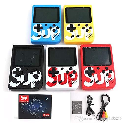 LucaHome - Consola Retro portatil 400 Juegos en 1 Sup, Consola portatil Arcade con Pantalla LCD 2,8', Consola Retro con bateria de Litio, (Negro)