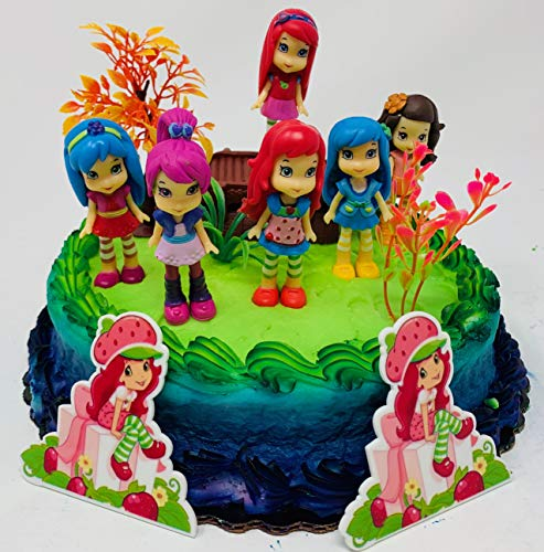 Strawberry Shortcake and Friends Birthday Cake Topper