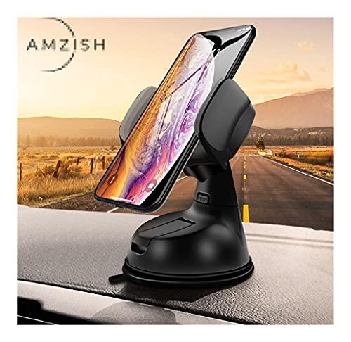 LINMAN Tenedor de teléfono Universal, Compatible con iPhone Samsung Xiaomi Portífagos móviles en automóvil Soporte de teléfono Soporte Topboard (Color : S04 DZ01 BG)