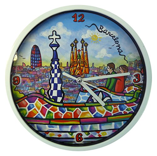Nadal Uhr Gaudi Spanien, Mehrfarbig, 20x 20x 3,45cm Medium