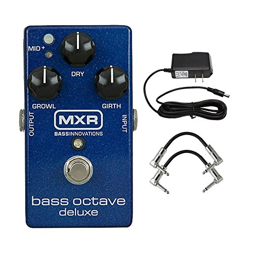 MXR M288 Bass Octave Deluxe Pedal with 9V Power Supply