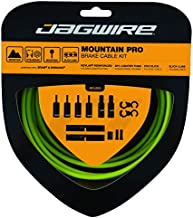 Jagwire - Mountain Pro Brake DIY Cable Kit | for MTN Bike with Disc or V-Brakes | SRAM and Shimano Compatible | Polished Stainless Bicycle Cables | Organic Green