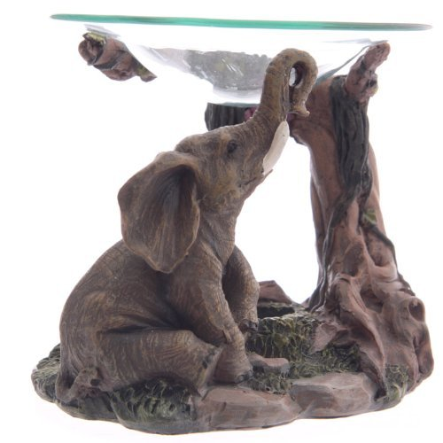 lotusandlime Ölbrenner, Elefantengrau, 15 cm
