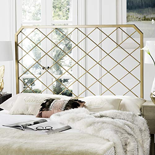 Safavieh Stitch Headboard, Queen, Antique Gold