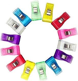 100pc / Box Medium Size Plastklipp Multicolor Syklipp Quilting Bindlingsklämmor För Hantverk, Virka Och Stickning - 3,3 X ...