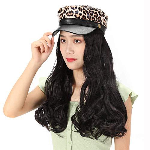 pruiken Hoed pruik vrouwelijke pruik luipaard hoed pruik grote golf pruik hoed pruik set