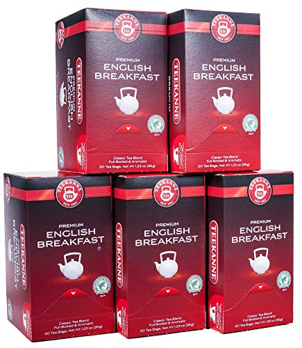 Teekanne Premium English Breakfast 20 Beutel, 5er Pack (5 x 35 g)
