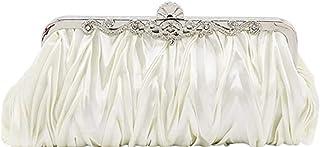 Estriana Designer Damen Hochzeit Abend Party Handtasche Schulter Clutch Bag Cocktail Satin Rüschen Handtasche Schultertasche
