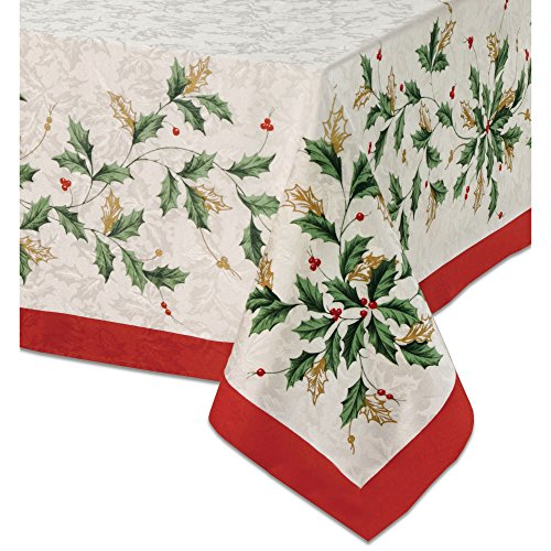 Lenox Christmas Tablecloth Golden Holly
