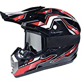 GZMES - Coche y Moto Casco Downhill Hombre Adulto Casco Motocross Enduro Sports MTB con Gafas Máscara Guantes Casco Cross Quad Off Road ATV Scooter Helmet,XL