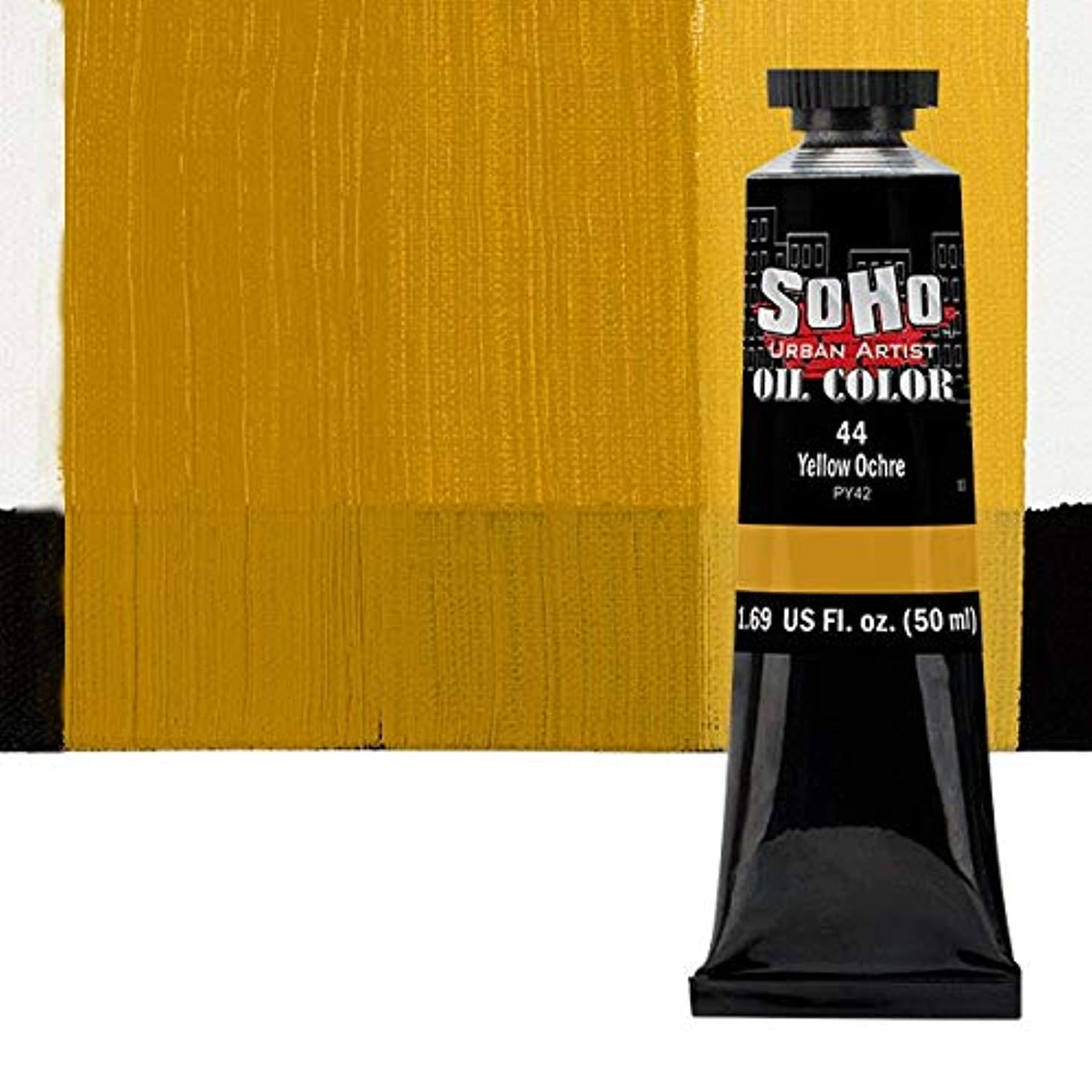 SoHo Urban Artist Oil Color Paint and High Pigmented Professional Oil Paint - 50 ml Tube - Yellow Ochre
