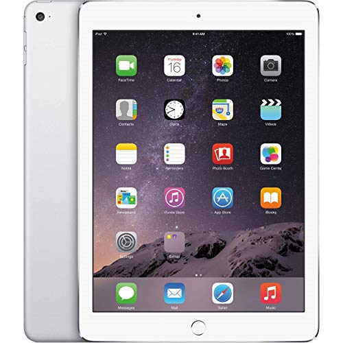 Apple iPad Air 2 16GB Wi-Fi + Cellular - Silver - Unlocked (Renewed)