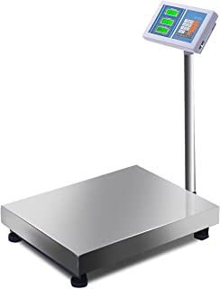 Giantex 660lbs Weight Computing Digital Scale Floor Platform Scale Postal Scale Accurate Shipping Mailing LB/KG Price Calculator Stainless Steel High-Definition Display Screen