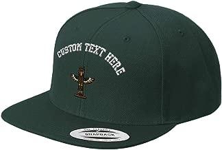 Custom Snapback Baseball Cap Totem Pole Embroidery Design Acrylic Cap Snaps