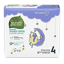 Seventh Generation Overnight Diapers- best overnight diapers