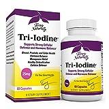 Terry Naturally Tri-Iodine 25 mg - 25000 mcg Iodine, 60 Vegan Capsules - Supports Hormone Balance, Promotes Breast & Prostate Health - Non-GMO, Gluten-Free, Kosher - 60 Servings