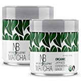 Nature's Blueprint Matcha Tea - Organic Japanese UJI - Pure Ceremonial Grade Green Tea Powder - 2 Pack Bundle (2 oz.) - Whisk Up the Perfect Bowl, or Gift to a Friend as a Set from Kyoto Japan.