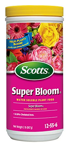 Scotts Super Bloom Water Soluble Plant Food, 2 lb – NPK 12-55-6 – Fertilizer for Outdoor Flowers, Fruiting Plants, Containers and Bed Areas – Feeds Plants Instantly