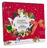 English Tea Shop Calendario Avvento Rosso | Tè e Tisane del Natale | Cofanetto Regalo Natale Infusi & Tè - 25 Bustine di Tè (50 Grammi) | Tè del Natale in Piramide