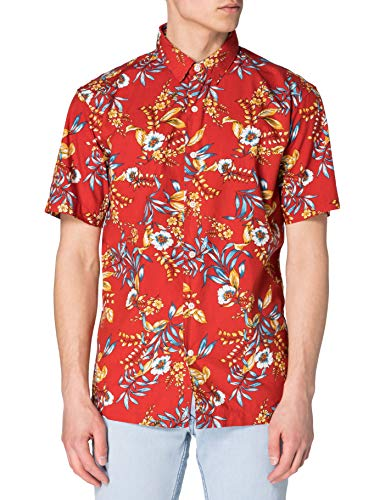 Superdry M4010353A Chemise à Boutons, Red Hawaiian, L Homme