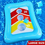 iGeeKid 36' Swimming Pool Ring Toss Games Inflatable Pool Toys Floating Toss Game for Kids Adults Floating Cornhole Board Set Swimming Toys Summer Pool Party Water Carnival Outdoor Beach Toy