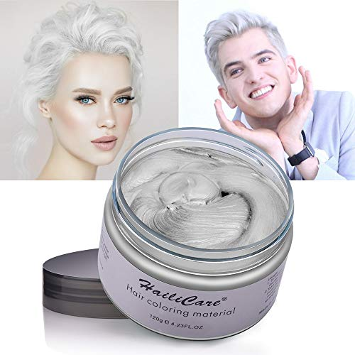 HailiCare White Hair Wax 4.23 oz, Professional Hair Pomades, Natural White Matte Hairstyle Max for Men Women