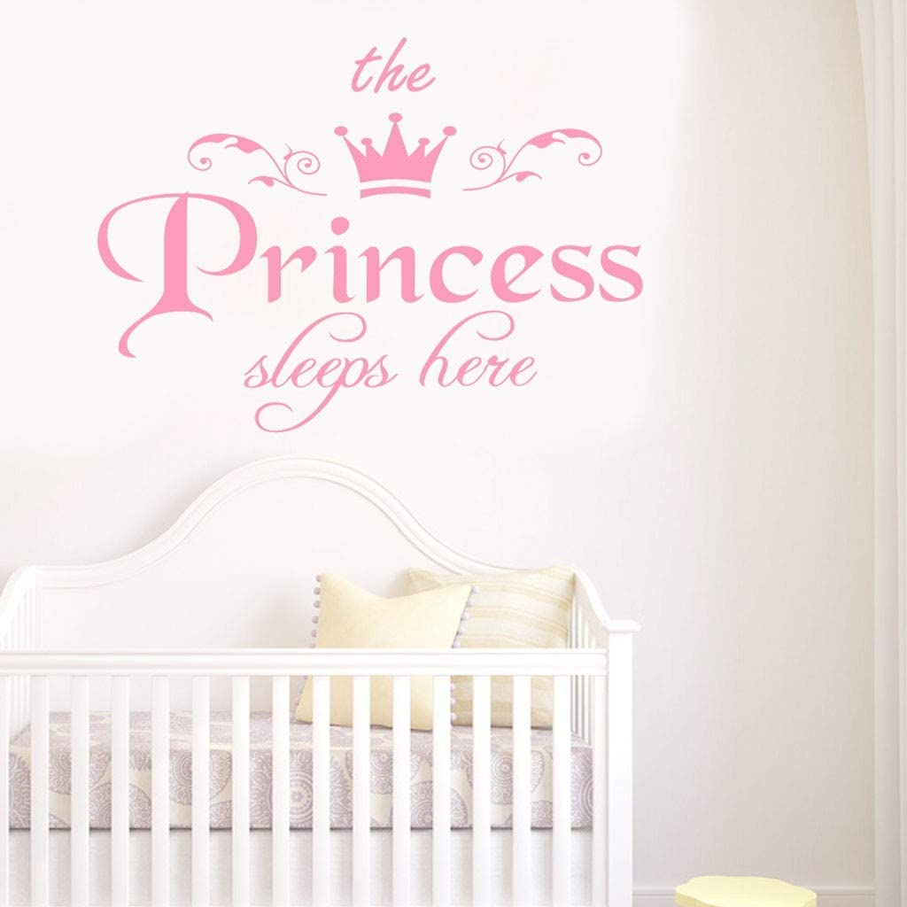 1 year warranty The Princess Letters Wall Sticker Decal Bed Creative Max 59% OFF Living Room
