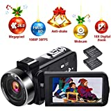 Camcorder Video Camera HD 1080P 30FPS Digital Vlogging Camera 24.0MP Self-timer Camcorder with Remote Control and Webcam Function