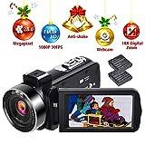 Caméscope 1080p 30FPS Appareil Photo Numérique Vlogging 24.0MP Camescope Numerique Full HD à Retardateur avec Télécommande et...