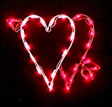 Valentine Double Heart Lighted Window Wall Decoration 16' x 13'