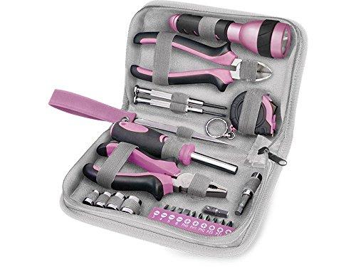 Extol Craft Werkzeugset 23 Stück, rosa, 6595