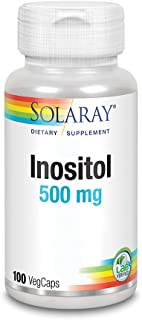 Solaray Inositol Capsules, 500 mg, 100 Count
