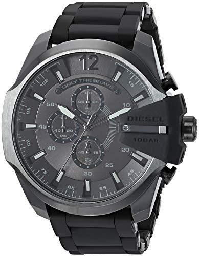 Diesel Mega Chief Analog Black Dial Men's Watch - DZ4486