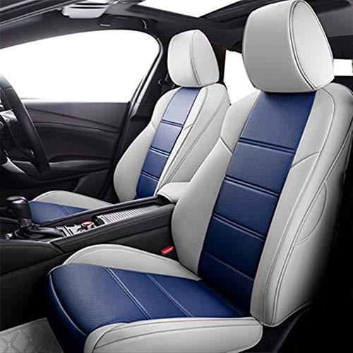 NIANZAI Asiento de Coche Cubierta de Encargo for Hyundai Solaris Tucson 2017 Cubiertas Creta I30 Accent Sonata ix35 Verna Accesorios for Asientos de Coches by Hongfubang (Color Name : Blue Standard)
