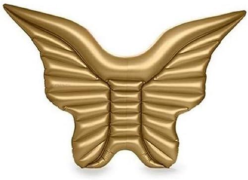 QJJML Aufblasbare SchmetterlingsflüGel, Die Ring Schwimmen, EngelsflüGel Im Freien, Die Erwachsene Kinder Der Wasserspielwaren Der Reihe Schwimmen,Gold