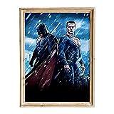 FANART369 Póster de Batman v Superman Dawn of Justice #33, tamaño A3, diseño de fanart de la película para pared, 29,7 x 42 cm, sin bordes