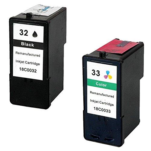 Prestige Cartridge 2 XL Compatibles 32 33 Cartuchos de Tinta para Lexmark P4350 P450 P6250 P6350 P915 X3330 X3350 X5250 X5260 X5270 X5470 X7170 X3350 Z800 Z805 Z812 Z815   Alta Capacidad