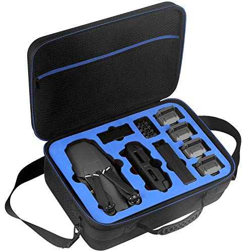 D DACCKIT Travel Case for DJI Mavic Pro/Mavic Pro Platinum Fly More Combo - Fit Quadcopter Drone, 5X Batteries, Remote Controller, Charging Hub, Propellers and Other Accessories