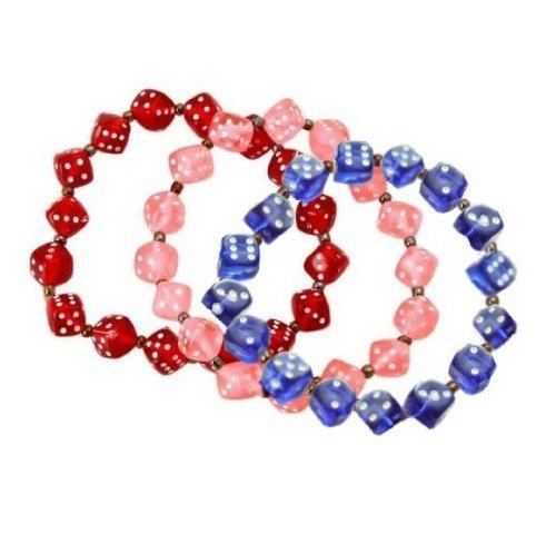 Bunco Dice Bracelet Set - 3 Separate Bracelets - Assorted Colors