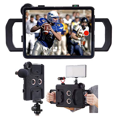 MegaMount Multimedia Rig Case,Video stabilizer for Apple iPad Pro 11 inch [2018 1st Gen Model Only] Easily Attach Lenses, Lights, Microphones. Great for Video Recording. Mounts on Tripods and Monopods