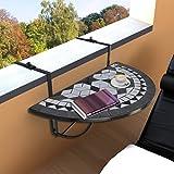 Zoom IMG-1 anself mosaico tavolino pieghevole da